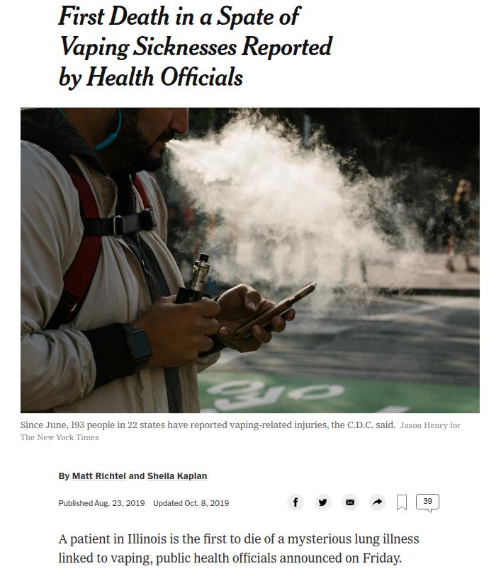NYT - vaping death