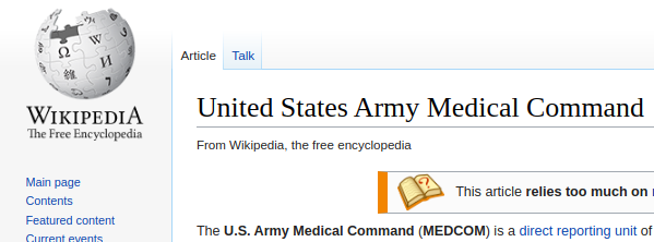 Wikipedia - USAMC