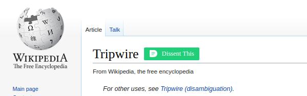 Wikipedia - tripwire