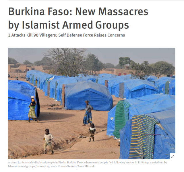 Burkina Faso New Massacres by Islamist Armed Groups