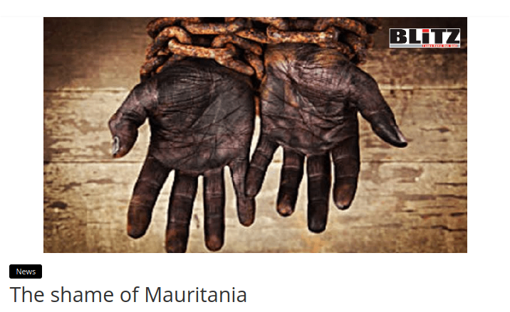 The shame of Mauritania